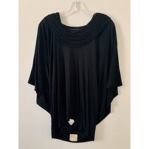 MASON BACKLESS BLOUSE BLACK / SIZE M/L